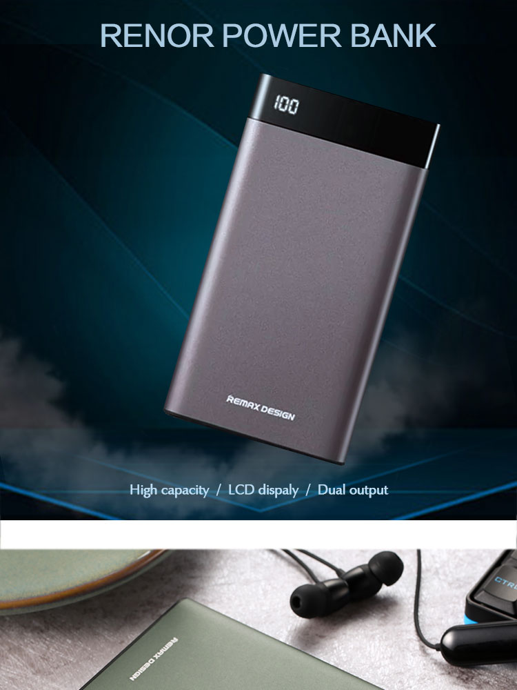 REMAX RPP-120 Ultra Slim Portable Mobile Power Bank 10000mAh