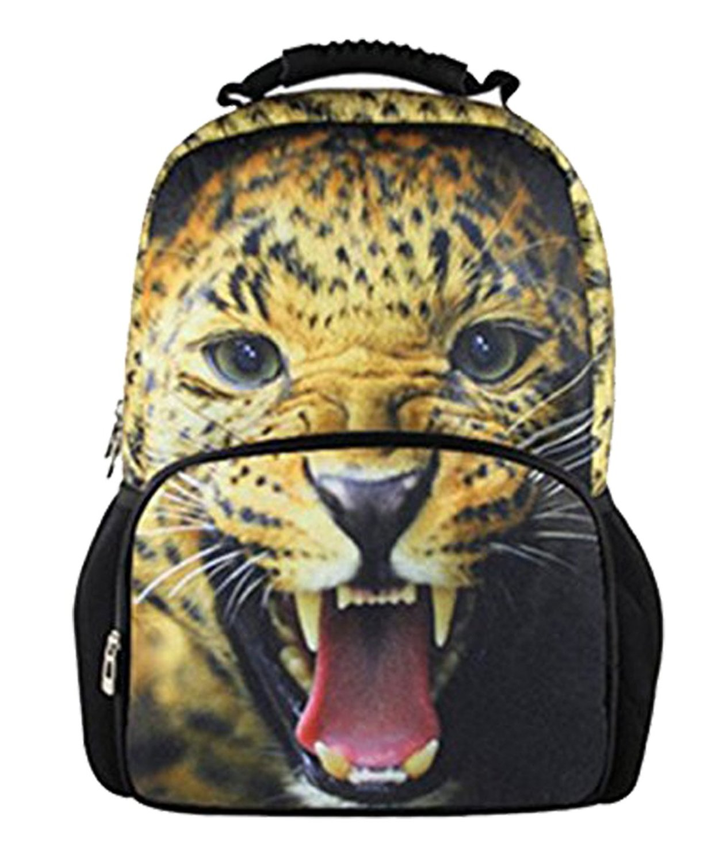 Yonger 3d Animal Tiger Head Backpack for Men Boys Cool Schoolbag