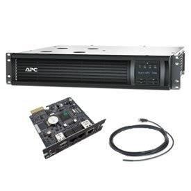 APC Smart-UPS 1500VA LCD RM 2U 120V (SMT1500RM2U) - Environmental Remote Management Bundle (AP9631)