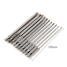 11pcs 100mm Long Steel Magnetic Torx T10 T9 T8 Hex Security Electric Screwdriver Bit Set For Magnetic Screwdriver Bit Tool Set