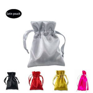 Christmas high quality custom satin silk jewelry pouches