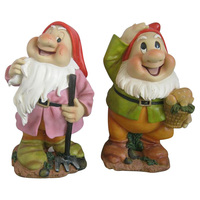 China factory direct sale custom resin garden decor the seven dwarfs,wholesale garden gnomes,7 dwarfs garden gnomes