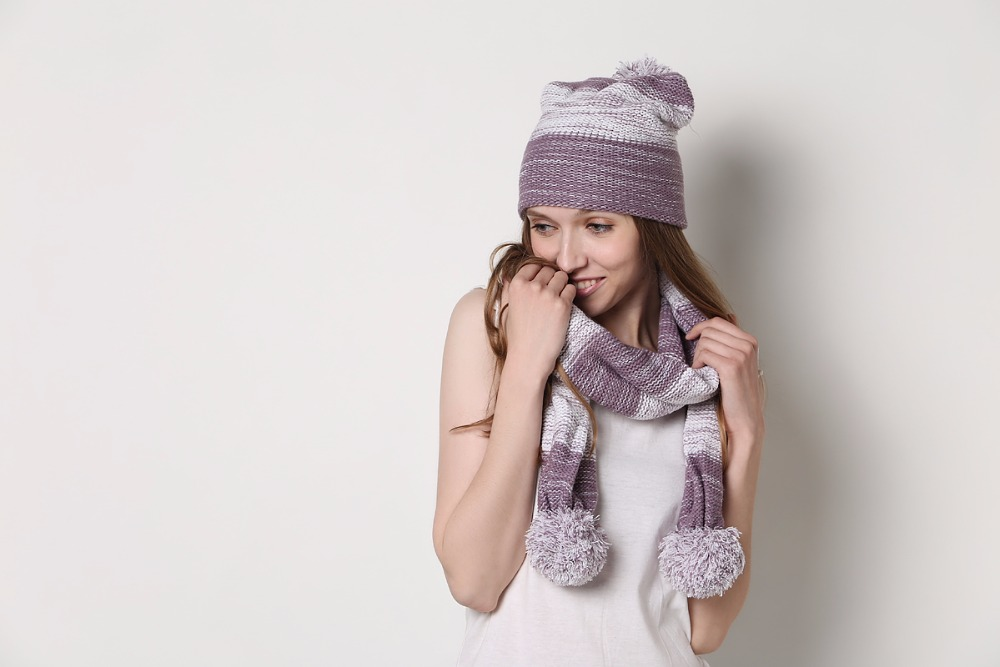 winter fashion cashmere hat glove and scarf sets