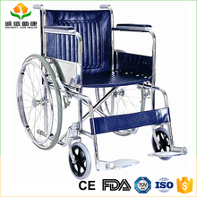 Lowest price economic utility handicapped rolling chair wheelchair wheel chair and folding comfortable for care people