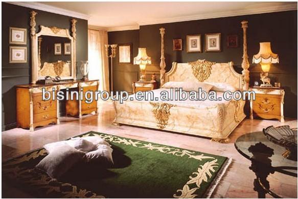 Tallada rey cal en franc s de lujo de estilo barroco bf11 - Dormitorio barroco ...