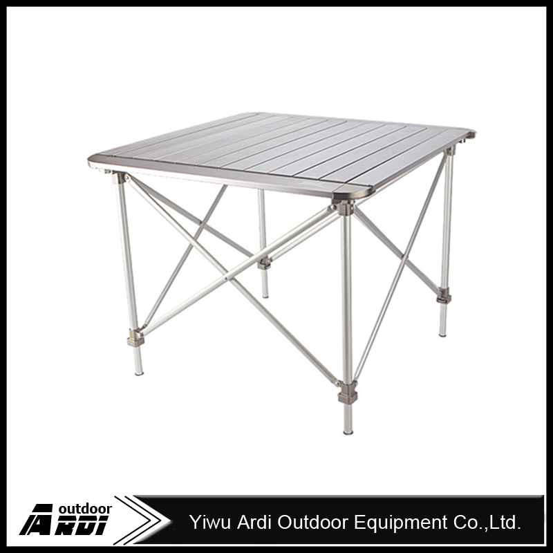 Outdoor portable lightweight aluminum <strong>folding</strong> table height adjustable camping barbecue picnic tables