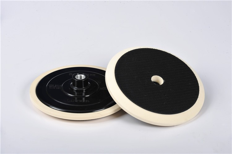 Factory supply custom design professional flat waxing round shape car polishing foam pad