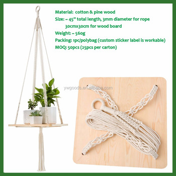 Macrame Shelf Hanging Planter Plant Hanger Home Decorative Plant