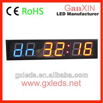 Crossfit Timer Red Blue Hq Ajanta Digital Wall Clock Models Buy