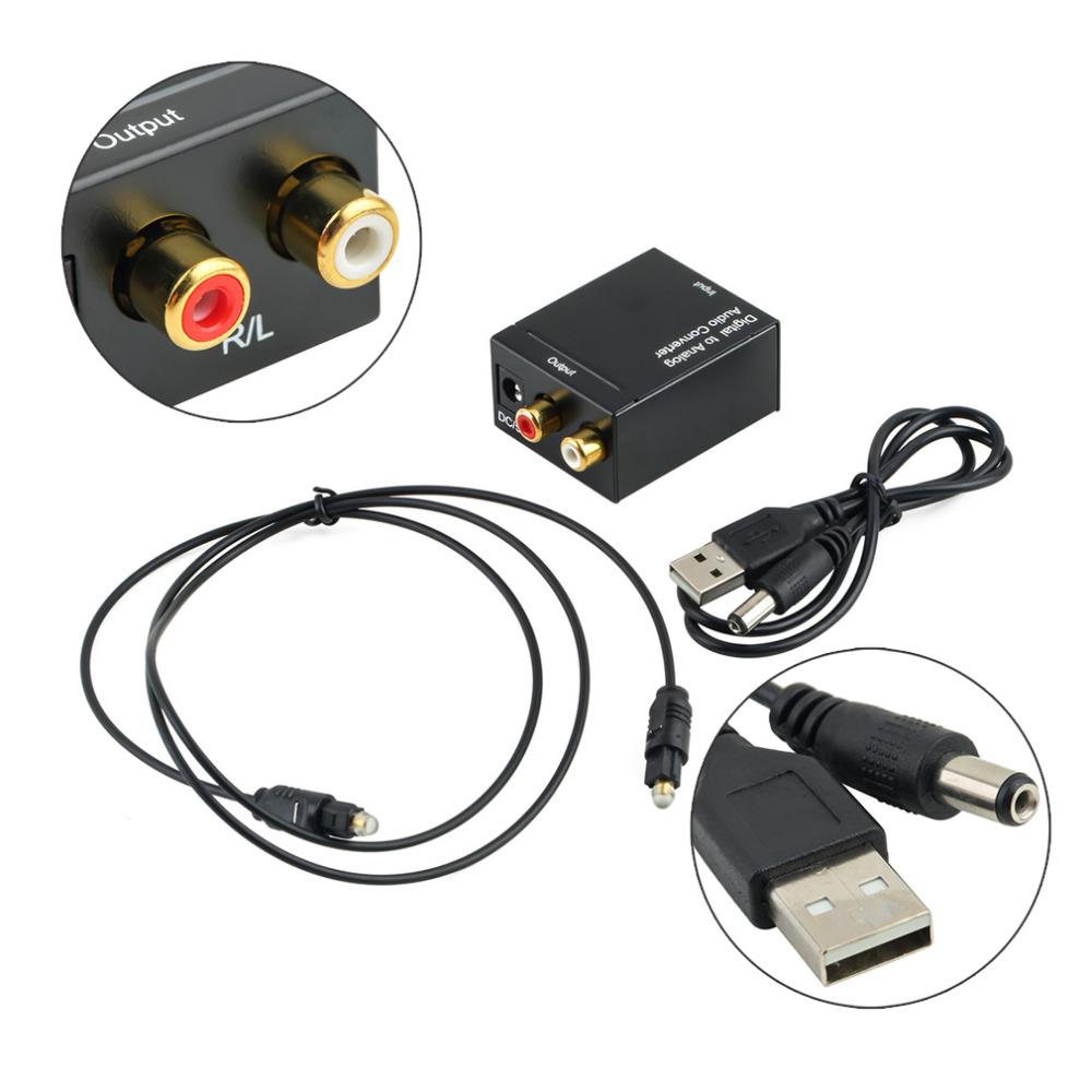 1b305322f03 Nuevo convertidor de audio digital a analógico adaptador digital adaptador  óptico coaxial RCA Toslink señal a