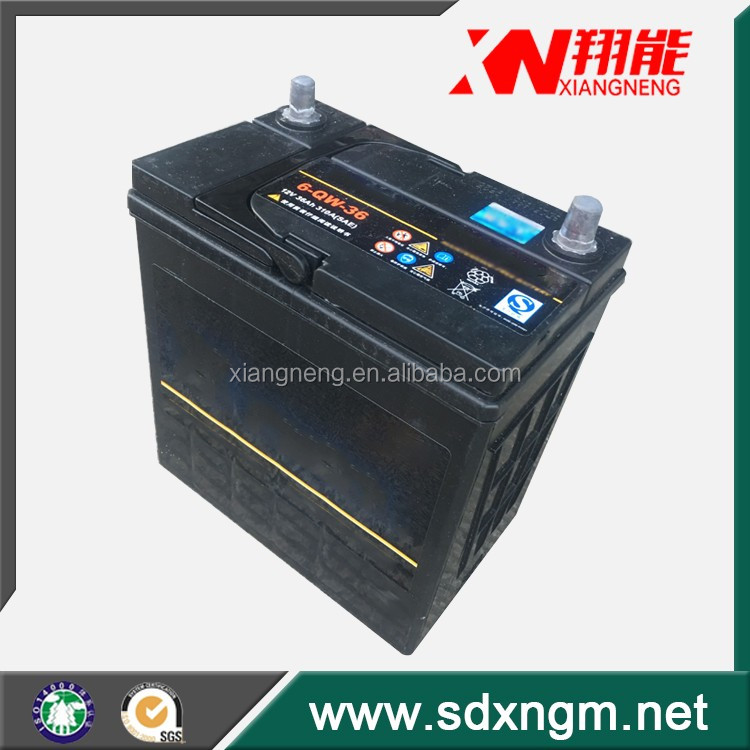 Auto car battery 12V sealed maintenance free for engine start/battery for car