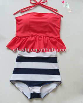 Just Arrivals 2Colors Popular Tank Tops High Waist Sexy BIKINI
