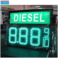 Outdoor 12inch 7segment LED Petrol Price Digital Display for Gas Station