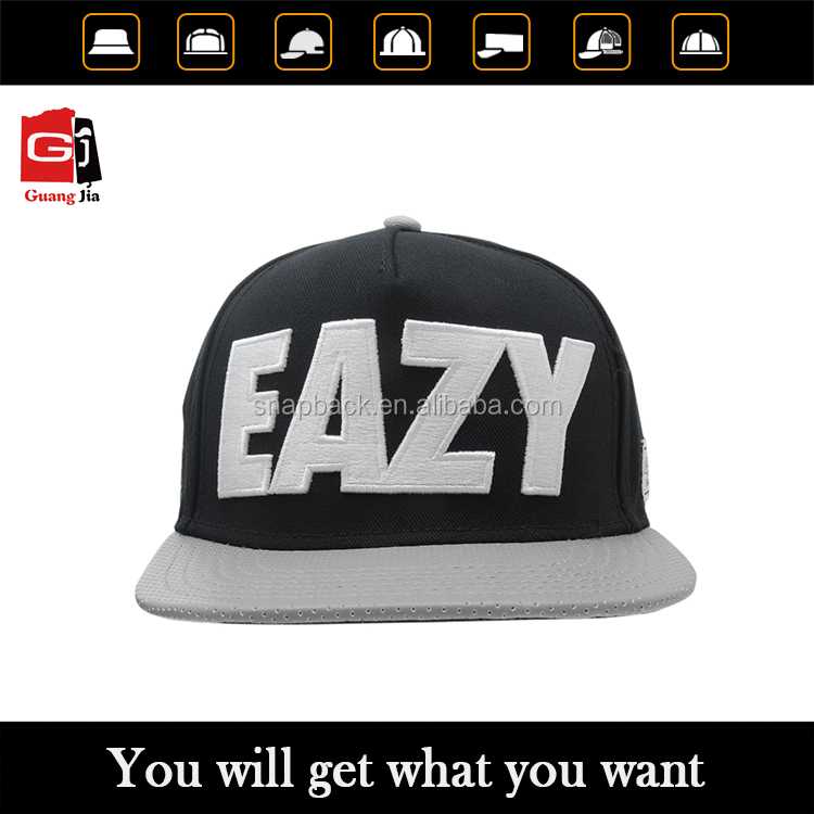 Design your own floral 3D embroidery snapback caps, custom wholesale snapback hats bulk
