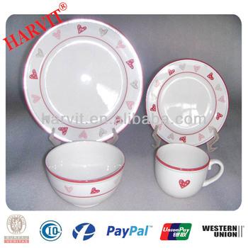 Kitchen Set Spot Decoration Dinnerware Set/Portuguese Porcelain Dinnerware/Red Heart Ceramic Dinnerware Set  sc 1 st  Alibaba & Kitchen Set Spot Decoration Dinnerware Set/portuguese Porcelain ...