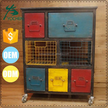 Industrial Rolling Metal Drawer Cabinet