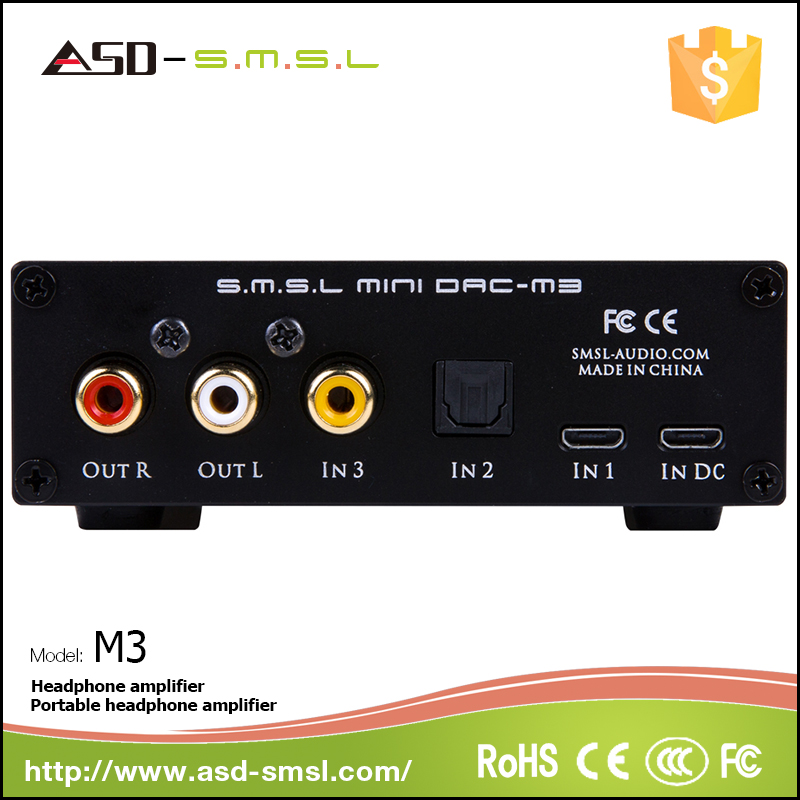 Aluminum shell SMSL M3 dac headphone amp with advanced for CS4398 DAC chip Does Not Require Driver Installation