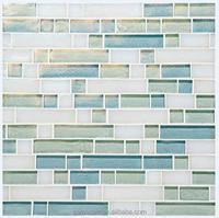 light color vitreous glass mosaic tiles for wall decor