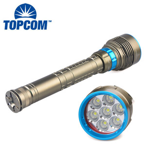 10000 lumens 7XCREE XM-L T6 LED Most Powerful LED Diving Flashlight Torch