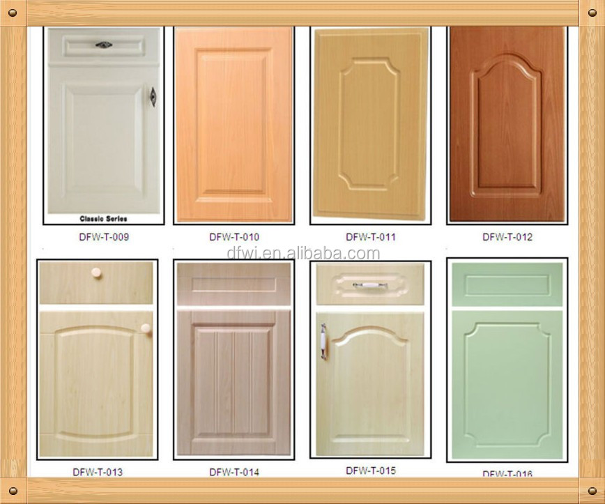 High Quality Pvc Film Thermofoil Mdf Kitchen Cabinet Door