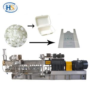 Bio Plastic Pellets Machine / Co-rotating Plastic Granules Twin Screw  Extruder
