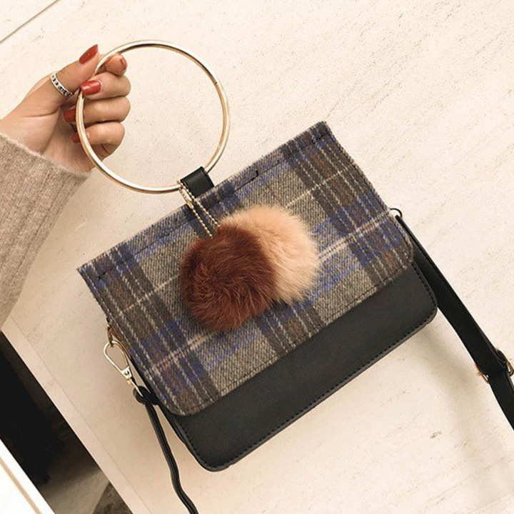 NS2207 New Fashion Wholesale Women Winter Woolen Handbags