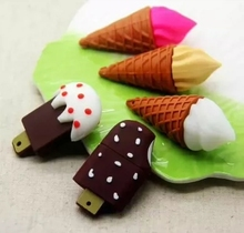 Wholesale Funny new design Promotional gifts ice-cream/lolly shape PVC USB flash memory,Customized high quality pvc USB