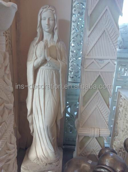 Resin statue of mary