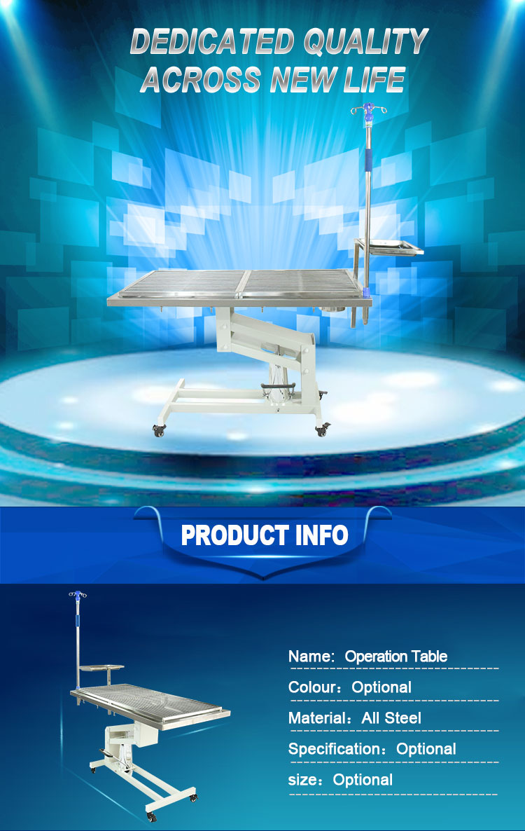 clinic bed manual surgical pet animal veterinary vet operation table