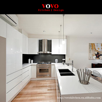 Luxury High Gloss White Lacquer Kitchen