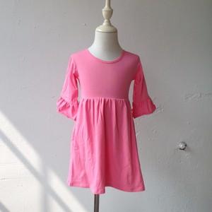 713809af689f Girls Blank Ruffle Dress