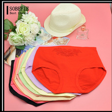 Woman Modal Embroidered Young Girl Wearing Panties Female Ladies Underwear Models Types Middle Waist Breathable