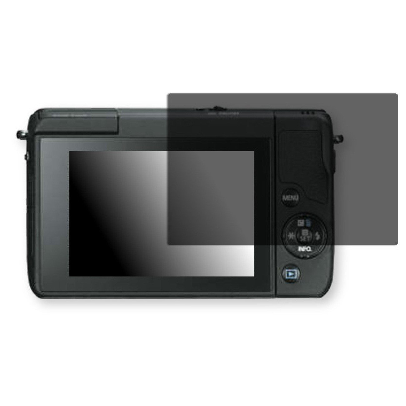 Golebo Screen Film for Privacy protection black for Canon EOS M10 - PREMIUM QUALITY