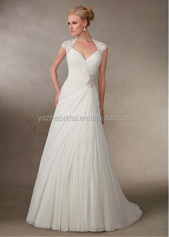 Queen Anne Neckline Wedding Dress Off 78 Buy