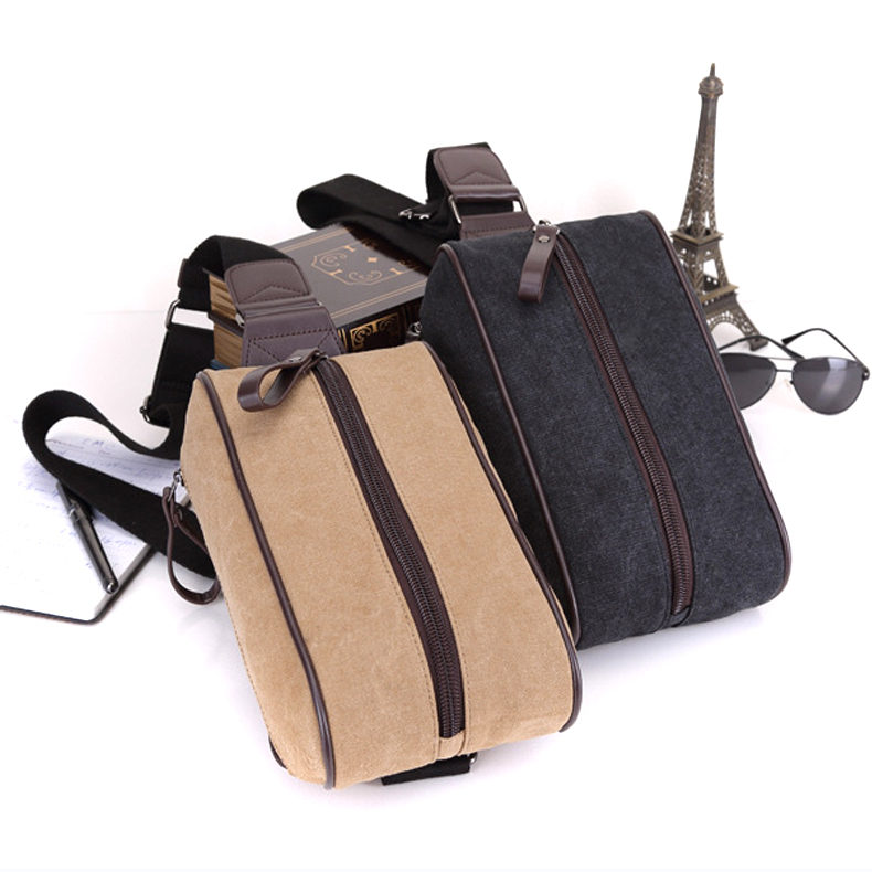 b4dcb6023961 Get Quotations · Hot vintage khaki black women and men canvs gym bag chest  pack cross body pack