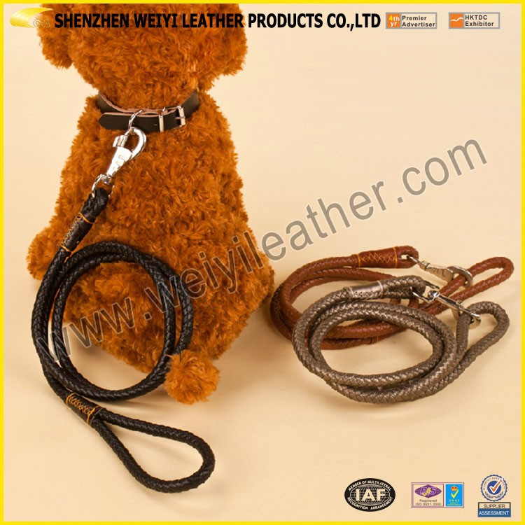 Personalized Friendly Leather Pet Belt Custom Leather Pet Leash