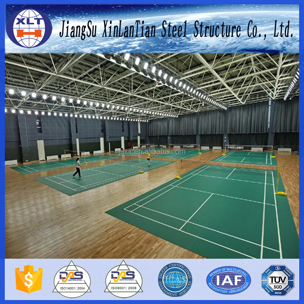 Prefabricated Light Steel Structure Basketball Gymnasium Hall with CE Certificate