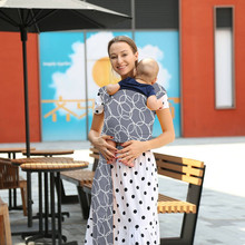 Amazon Hot sales (High) 저 (Quality OEM Available 95% Cotton 5% Spandex 숨 및 Soft 링 Sling Baby Wrap Carrier
