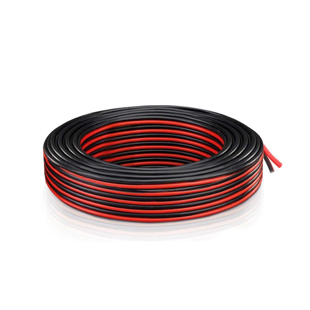 Get Quotations · 18 Gauge AWG 2 Conductor Electrical wire - 70 ft Red and  Black 18 AWG Tin