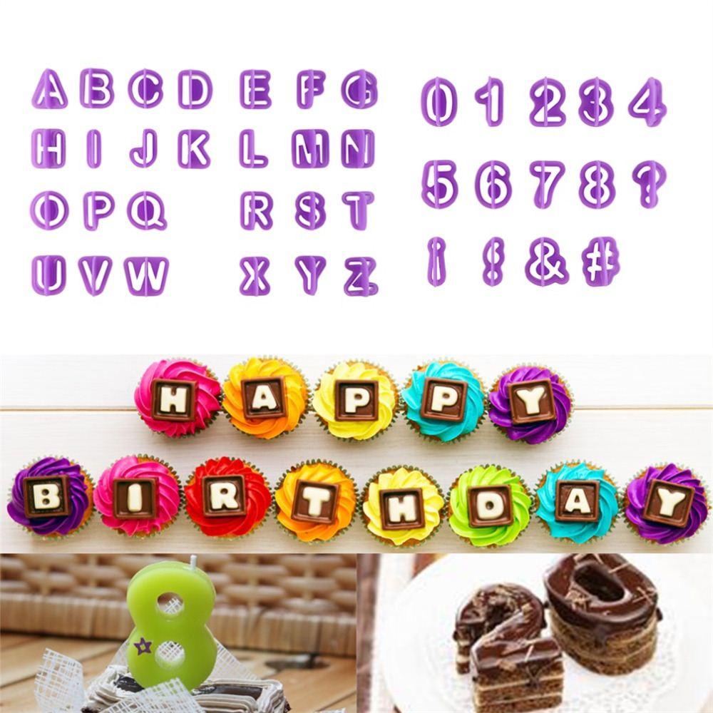 Neue Ankunft 26 Englisch Brief Anzahl Form Kuchen Ausstecher Fondant