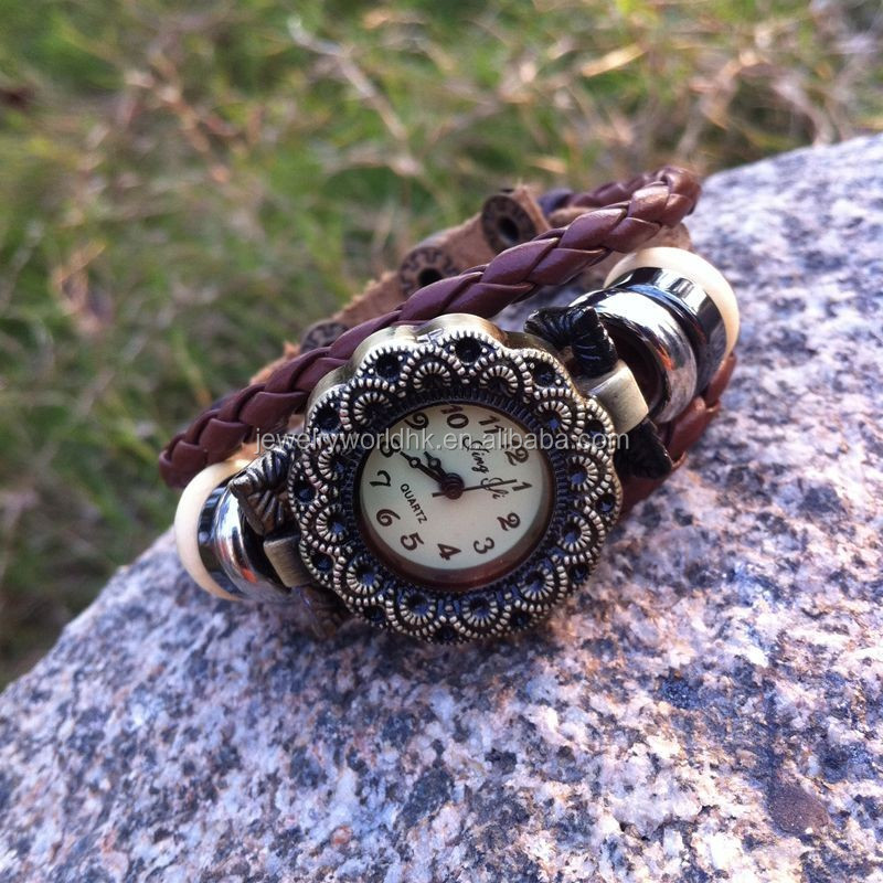 Leather watch,vintage women watches jewelry leather watch