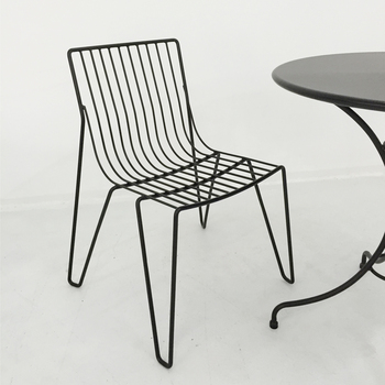 Awesome Outdoor Solid Metal Wire Frame Patio Chair Black Outdoor Patio Furniture Dining Chair Buy Wire Chair Manufacturers High Quality Dining Chair Wire Creativecarmelina Interior Chair Design Creativecarmelinacom