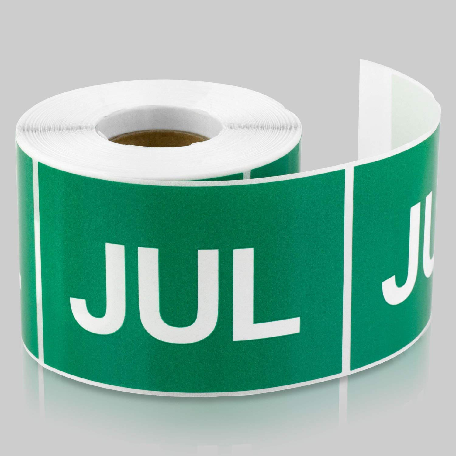 "TUCO DEALS - 3"" x 2"" Rectangle Months of the year: July Color Coded Dot Self Adhesive Stickers / Labels (300 Labels Per Roll) - Green"