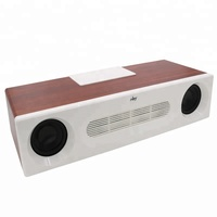2019 heavy bass 20W Home use Wooden bluetooth speaker parlantes bocinas bluetooth wireless speaker with mic