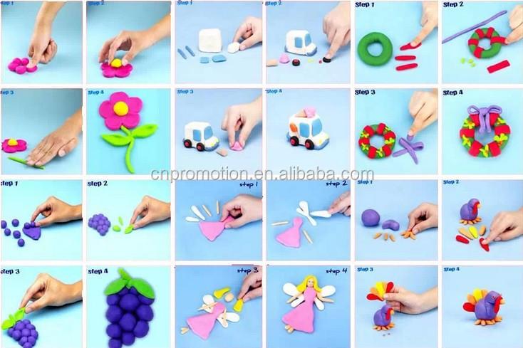 Nontoxic Super Light Bouncing Play Dough Modeling Clay Dough Play