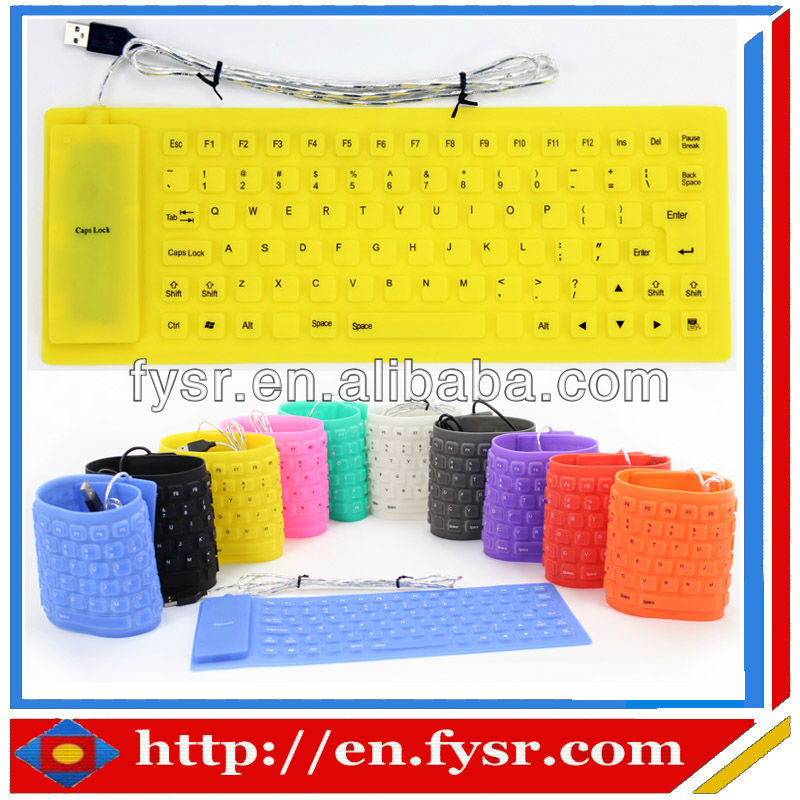 Hot sell eco-friendly and soft silicone keyboard