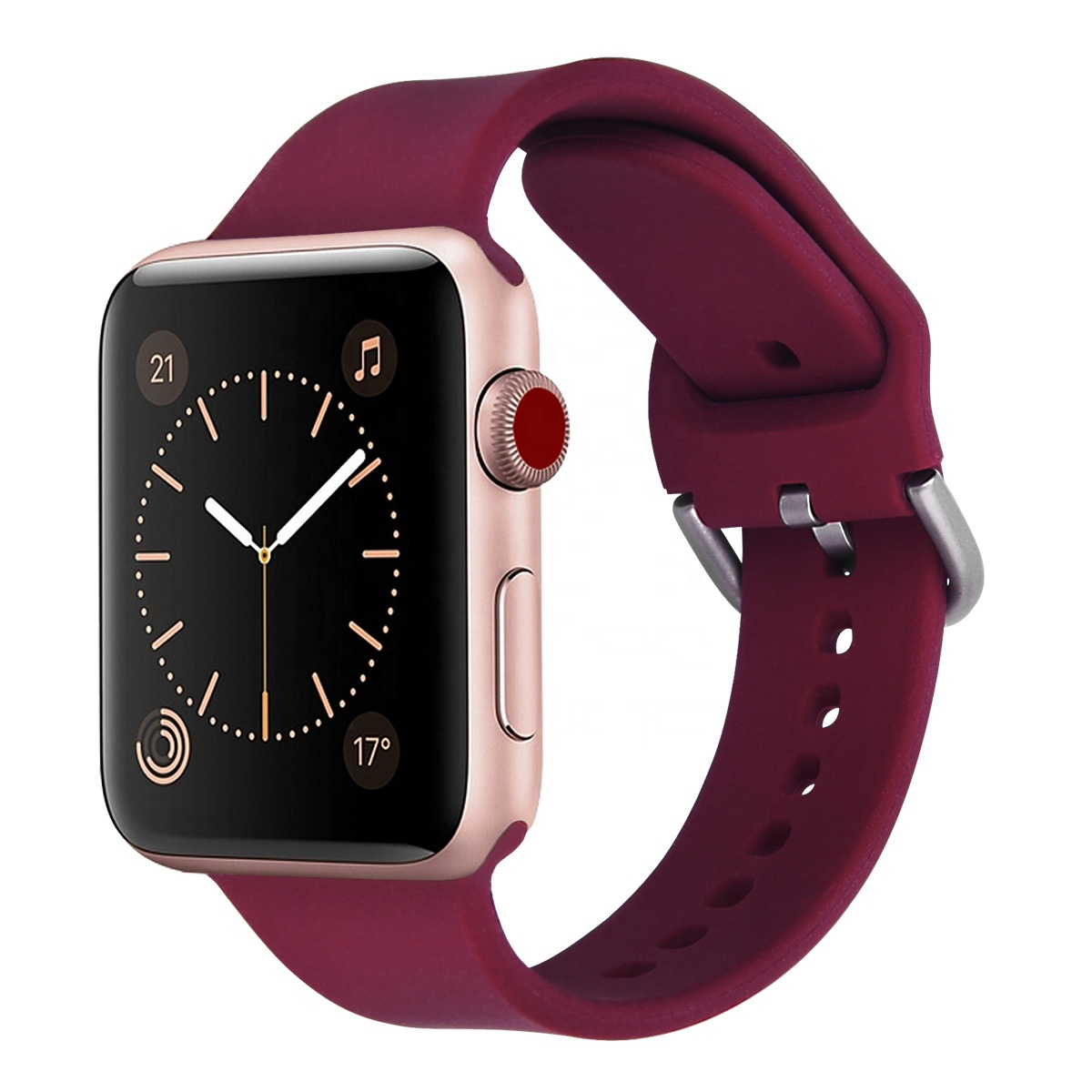 Alibaba.com / 2019 New buckle silicone strap for Apple Watch Fashionable design soft rubber watch band for iwatch