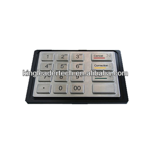 IP65 industrial kiosk metal numeric keypad with 16 keys