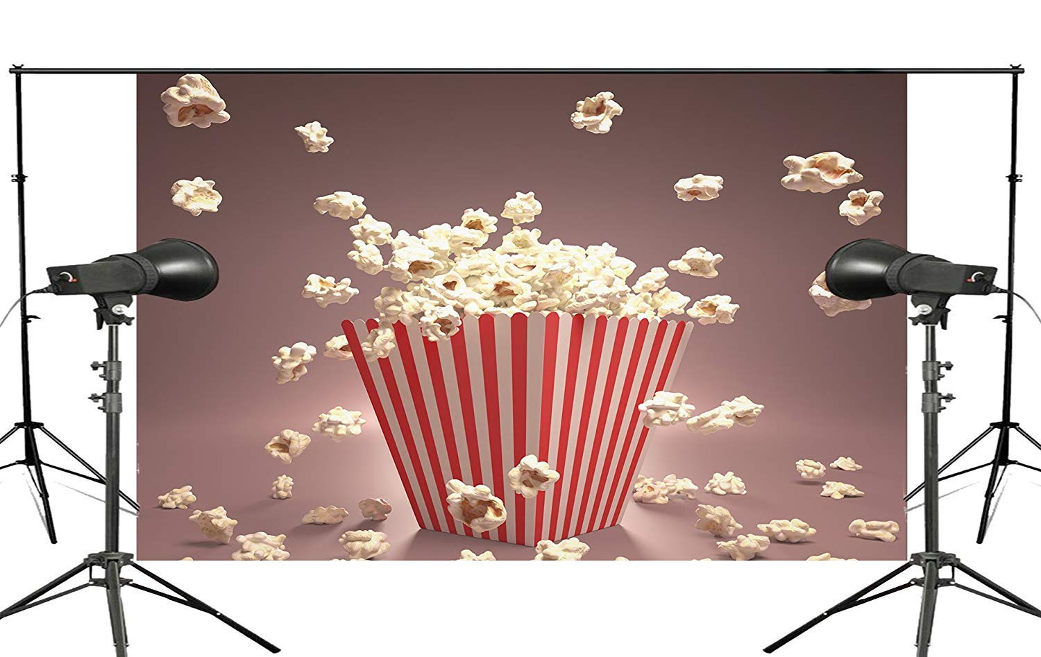 ERTIANANG Exquisite Background Popcorn from The Box Pop Out Sprinkled on The Ground Kids Studio Photography Background 150x210cm