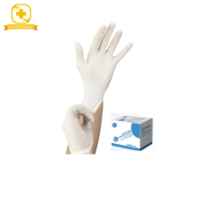 Disposable medical latex examination gloves with S M L XL size